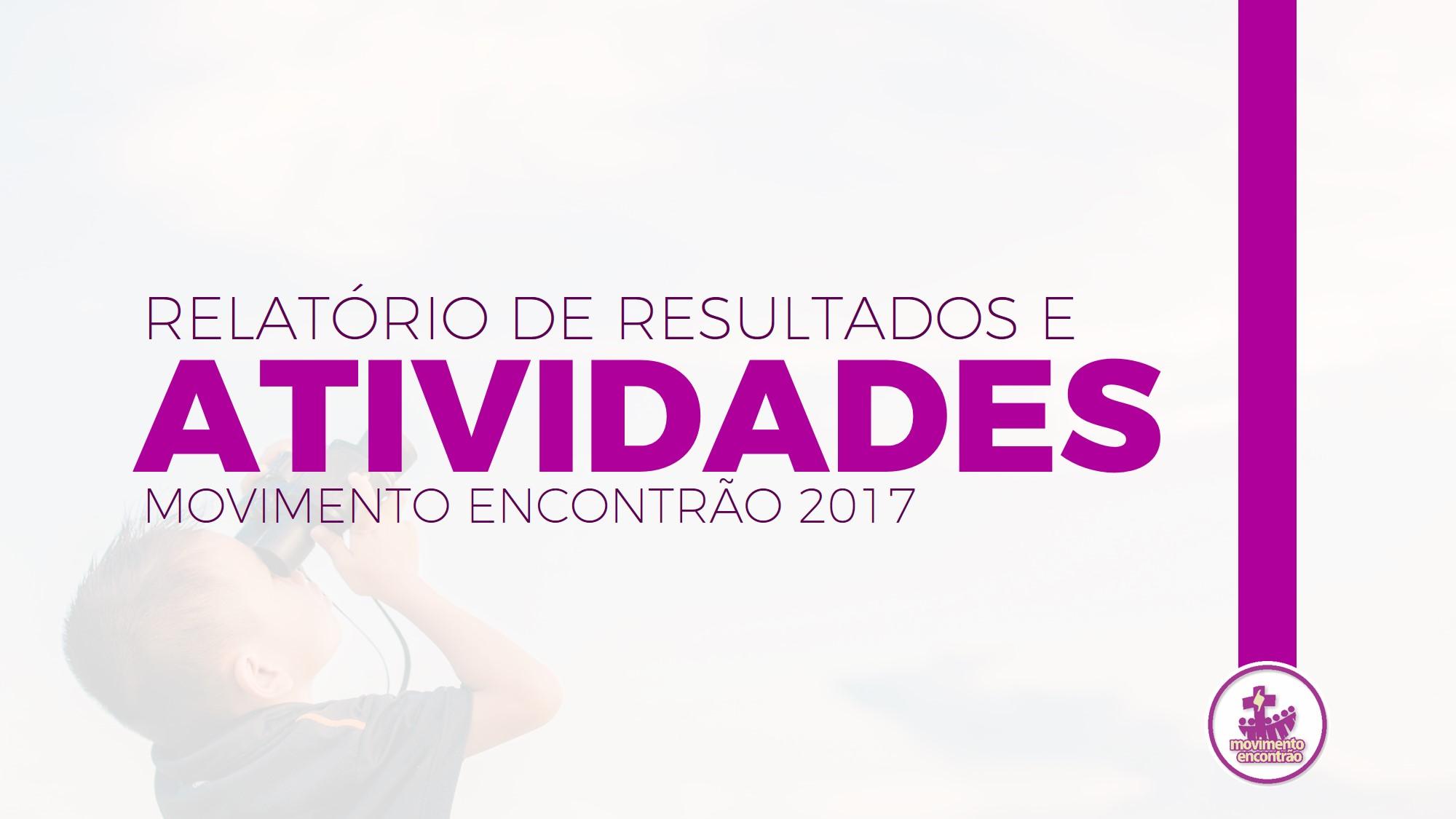 Relatório de Atividades 2017