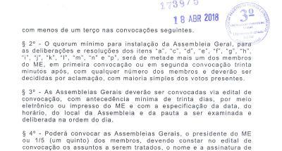 Alteração de Estatuto 2018