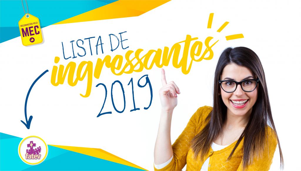 Ingressantes 2019